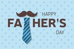 Szczęśliwy ojca dzień kartka z pozdrowieniami Szczęśliwy ojca dnia plakat wektor Zdjęcia Royalty Free