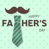 Szczęśliwy ojca dzień kartka z pozdrowieniami Szczęśliwy ojca dnia plakat wektor Fotografia Stock