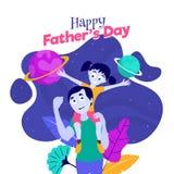 Szczęśliwy ojca i córki duet ilustracja wektor