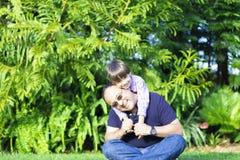 Szczęśliwy ojca i dzieciaka Cieszyć się Fotografia Stock