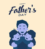 Szczęśliwy ojca ` s dnia kartka z pozdrowieniami, Błękitny brzmienie projekt Zdjęcie Royalty Free