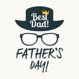 Szczęśliwy ojca ` s dnia wektoru kartka z pozdrowieniami Obrazy Royalty Free