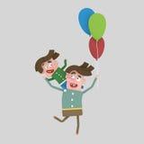 szczęśliwy ojca syn ilustracji