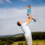 Szczęśliwy ojciec Zdjęcia Royalty Free