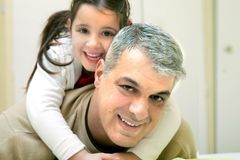 szczęśliwy ojciec Obraz Royalty Free