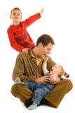 szczęśliwy ojciec jego synowie zdjęcia royalty free