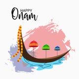 Szczęśliwy Onam festiwal Południowy India Kerala royalty ilustracja
