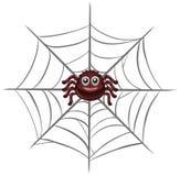 Szczęśliwy pająk na sieci royalty ilustracja