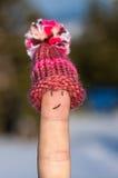 Szczęśliwy palec z nakrętką Obrazy Stock