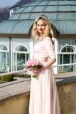 szczęśliwy panna młoda dzień jej ślub Fotografia Royalty Free