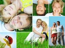 szczęśliwy par zewnętrznego Fotografia Stock