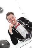 Szczęśliwy partyjny facet Zdjęcie Royalty Free