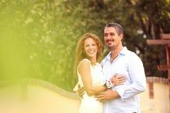 Szczęśliwy pary czuć wielki Zdjęcia Royalty Free