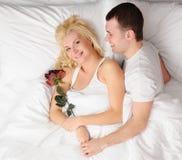 szczęśliwy pary miesiąc miodowy Obraz Royalty Free
