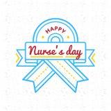 Szczęśliwy pielęgniarka dnia powitania emblemat Obraz Stock