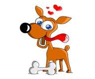 Szczęśliwy pies Obrazy Royalty Free