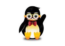 Szczęśliwy pingwin macha Zdjęcia Royalty Free