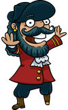 Szczęśliwy pirata kapitan Fotografia Royalty Free