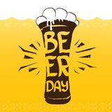 Szczęśliwy piwny dzień wektorowej grafiki plakat ilustracja wektor