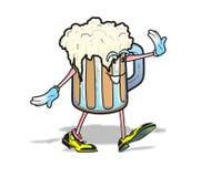 Szczęśliwy Piwny mężczyzna ilustracja wektor
