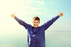 szczęśliwy plenerowy nastolatek Zdjęcia Royalty Free