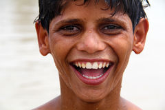Szczęśliwy Południowy Azjatycki Nastoletni Zdjęcie Stock