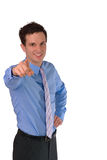Szczęśliwy Pomyślny Młody biznesmena śmiać się Obrazy Stock