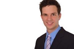 Szczęśliwy Pomyślny Młody biznesmena śmiać się Fotografia Stock