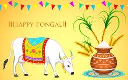 Szczęśliwy Pongal ilustracji