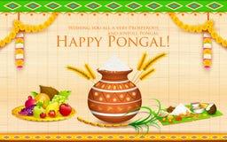 Szczęśliwy Pongal ilustracja wektor