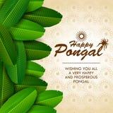 Szczęśliwy Pongal festiwal tamil nadu India tło royalty ilustracja