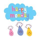 Szczęśliwy Poniedziałek Obraz Royalty Free