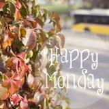 Szczęśliwy Poniedziałku Inspiracyjny projekt obraz stock