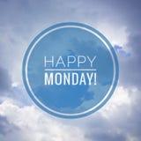 Szczęśliwy Poniedziałku powitanie na natury tle obrazy royalty free