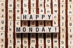 Szczęśliwy Poniedziałku słowa pojęcie obraz royalty free