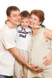 szczęśliwy portret rodzinny Zdjęcia Royalty Free