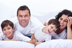 szczęśliwy portret rodzinny Fotografia Royalty Free