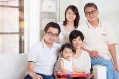 szczęśliwy portret rodzinny Obrazy Stock