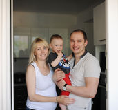 szczęśliwy portret rodzinny Zdjęcia Stock
