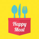 szczęśliwy posiłek Obraz Royalty Free
