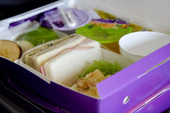 Szczęśliwy posiłek kanapki set obraz royalty free