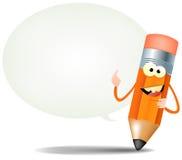 szczęśliwy postać z kreskówki ołówek ilustracja wektor
