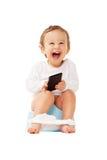 Szczęśliwy potty szkolenie Obrazy Stock