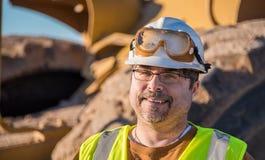 szczęśliwy pracowników budowlanych Obrazy Stock