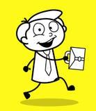 Szczęśliwy pracownik Iść biuro ilustracji