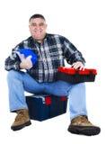 Szczęśliwy pracownika miejsca siedzące Obraz Stock
