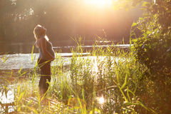 szczęśliwy pregnance Fotografia Stock