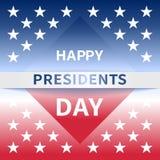Szczęśliwy prezydentów dni sztandar ilustracja wektor
