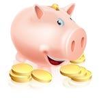 Szczęśliwy prosiątko bank Obraz Stock