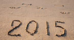 Szczęśliwy przybycie 2015 Zdjęcia Stock